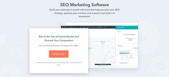 product page for the long tail keyword tool hubspot marketing hub