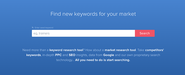 product page for the long tail keyword tool wordtracker