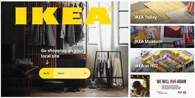 homepage for the ikea website, powered by the wordpress cms