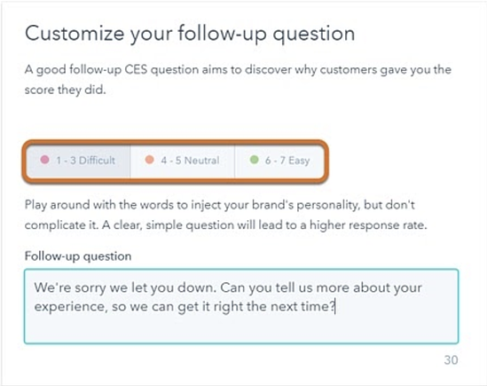 how to create a feedback form hubspot create follow up questions