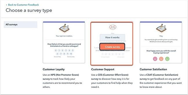 how to create a feedback form hubspot create survey