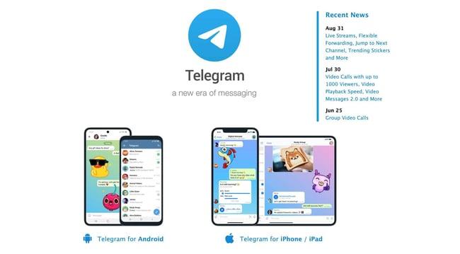 best free apis: telegram example
