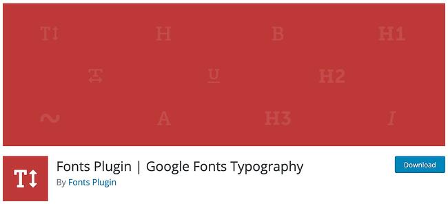download page for the wordpress google fonts plugin fonts plugin