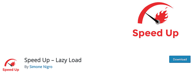 plugin download page for the wordpress lazy loading plugin speed up