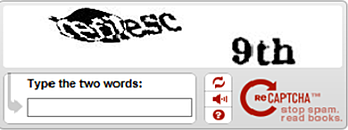 an example of a captcha program with text identification