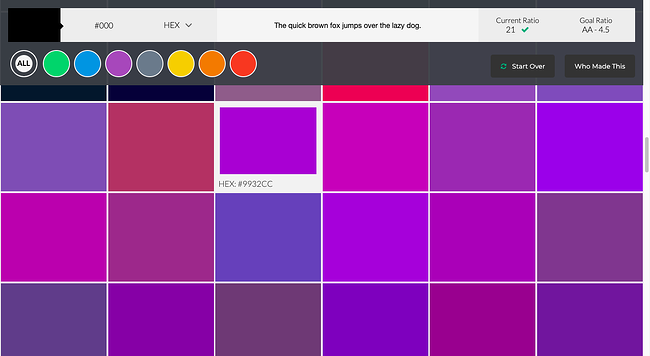 WordPress accessibility tool: Color Safe