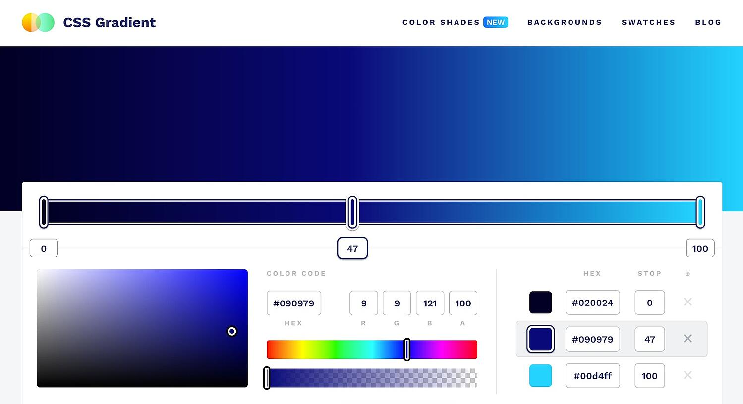 homepage for the web textures resource CSS Gradient