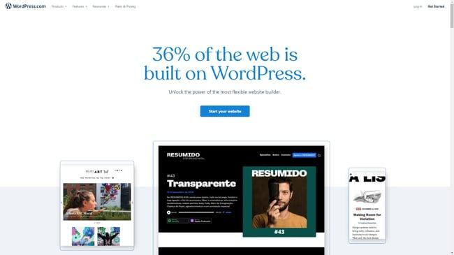 website buttons: wordpress example