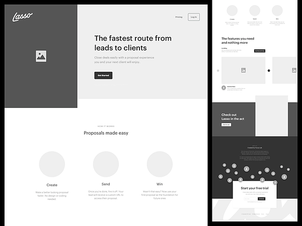 Digital tool, Lasso, helps create high-fidelity wireframe examples