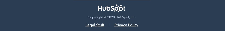 Copyright notice in HubSpot's website footer