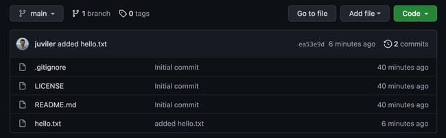 a github repository screen