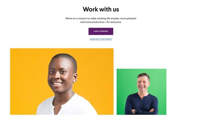 Slack business development sales careers page