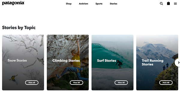 Patagonia blog categories