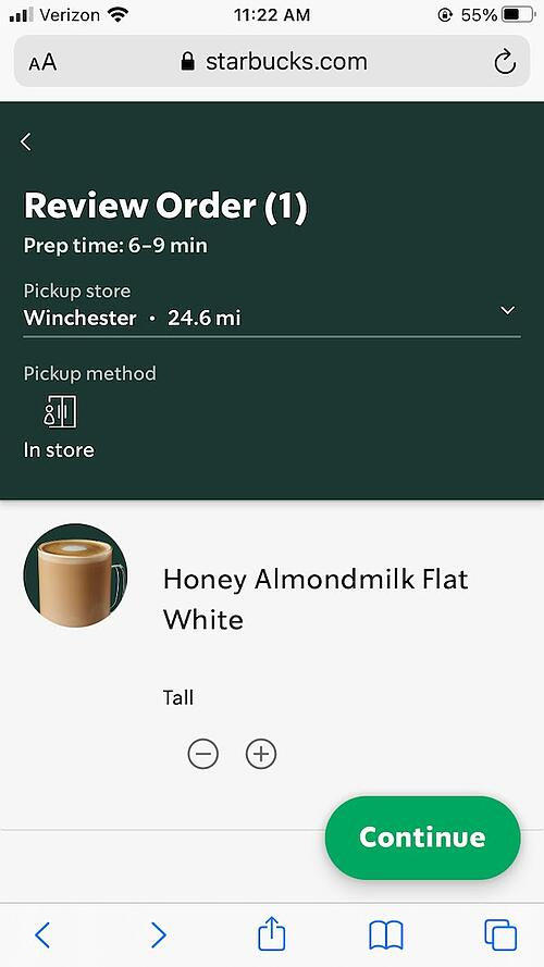 Starbucks web app example