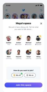 Twitterスペースに入るときは、スピーカーのようにマイクをオンまたはオフにすることができます。
