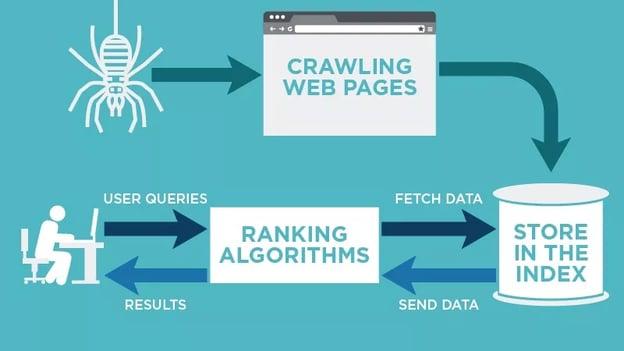 how web crawlers work visual chart