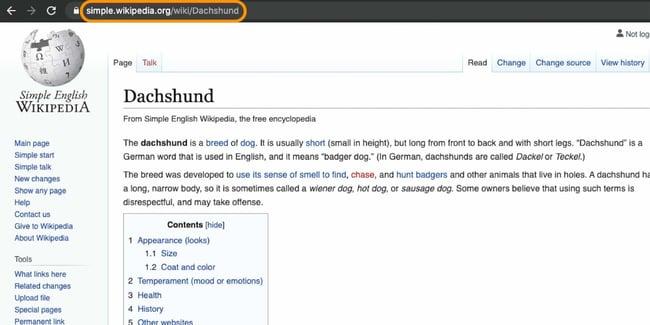 example of a subdomain on wikipedia.com