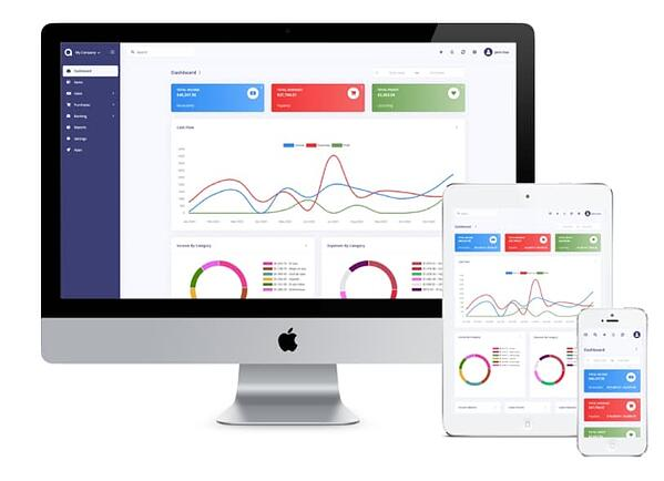 Akaunting accounting software dashboard