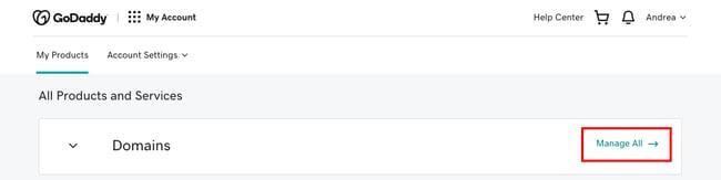 WordPress login: GoDaddy dashboard