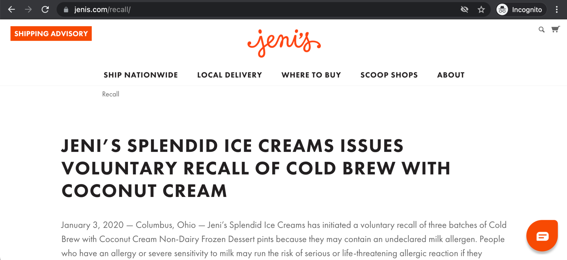 crisis communication best practices: jeni's ice cream