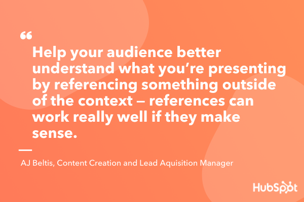 Compare the content with your interactive presentation idea for passions