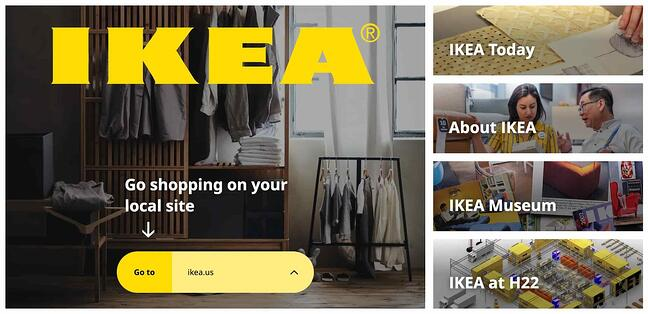 the ikea website homepage with a css grid layout