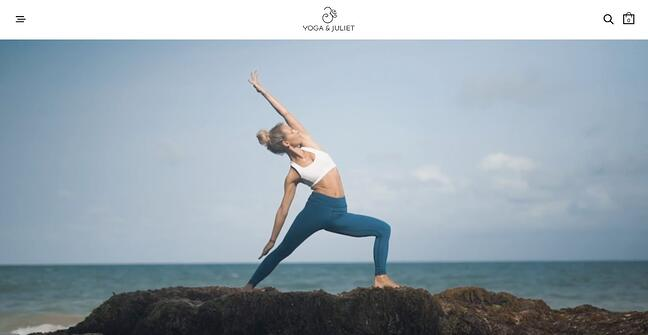 fitness website example: Yoga and Juliet