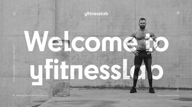 fitness website example: ytfitnesslab