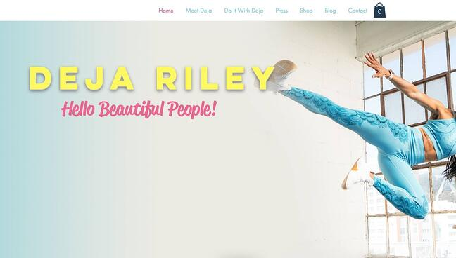 fitness website example: Deja Riley
