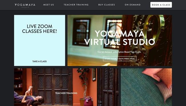 fitness website example: yogamaya