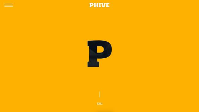 fitness website example: Phive