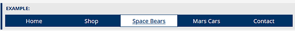 When the focus is on Space Bears, the drop down menu is not yet visible.