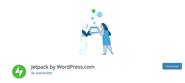 product page for the WordPress plugin jetpack
