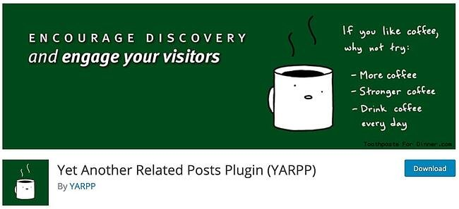 product page for the WordPress plugin yarpp