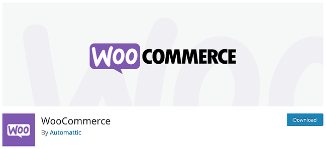 product page for the WordPress plugin woocommerce
