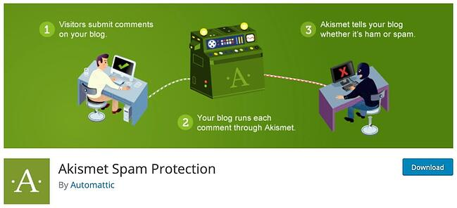 product page for the WordPress plugin akismet