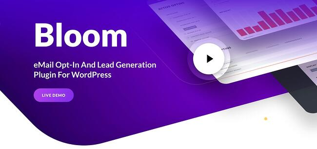 product page for the WordPress plugin bloom