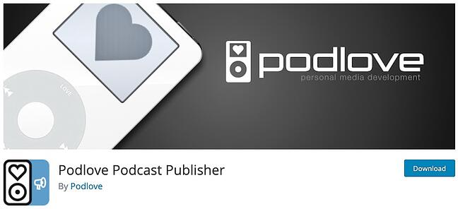 product page from the podcast wordpress plugin podlove podcasting publisher