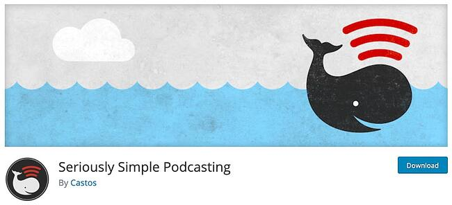 product page from the podcast wordpress plugin seriously simple podcasting