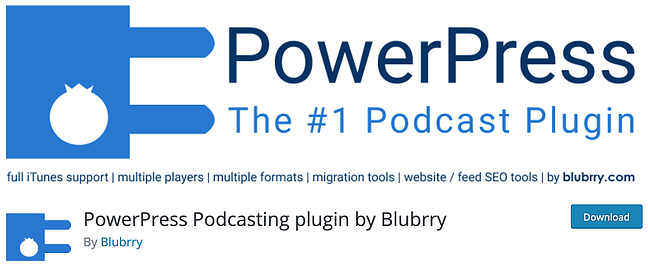 product page from the podcast wordpress plugin powerpress podcasting plugins