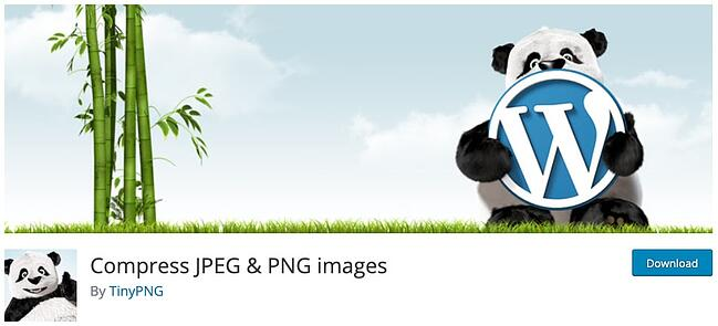 download page for the wordpress image optimization plugin compress jpeg and png images