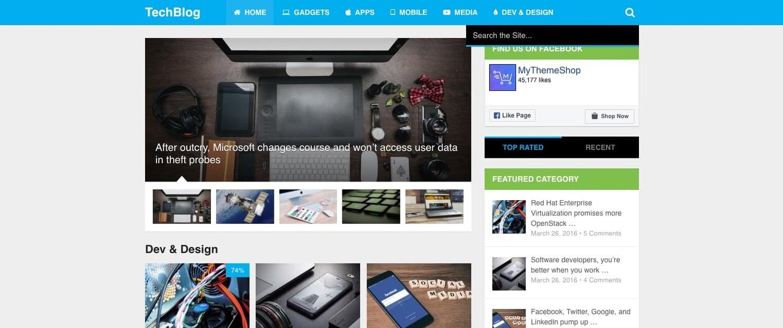 a demo of the WordPress tech blog theme MagXP