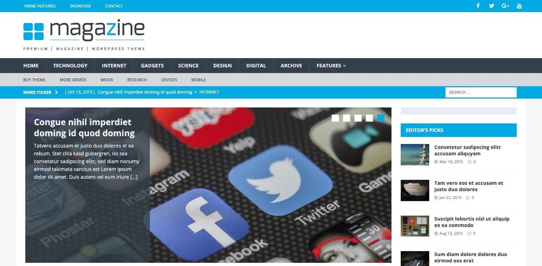a demo of the WordPress tech blog theme MH Magazine