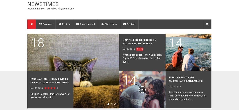 a demo of the WordPress tech blog theme NewsTimes