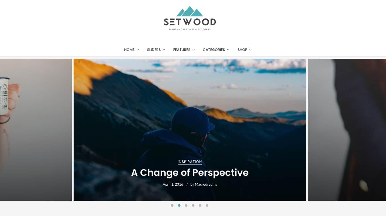 a demo of the WordPress tech blog theme Setwood