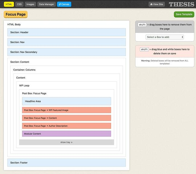 demonstration of the wordpress theme framework focus