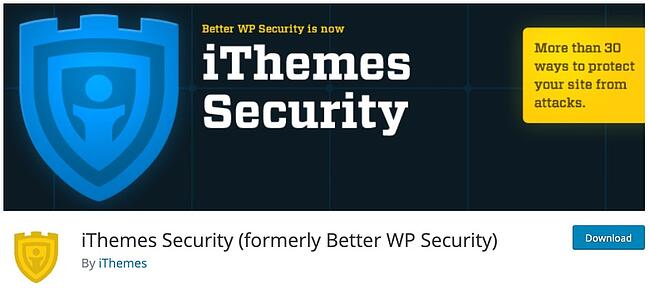 product page for the wordpress security scan plugin ithemes security