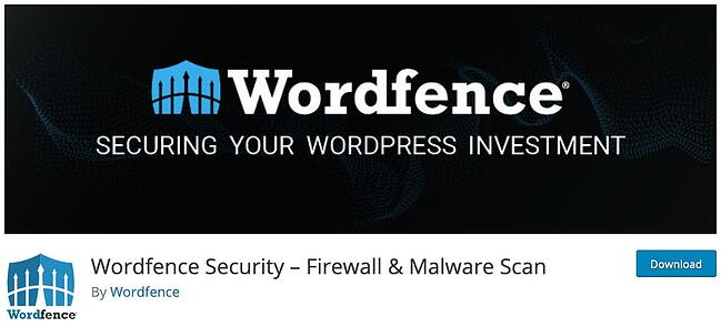 product page for the wordpress security scan plugin wordfence