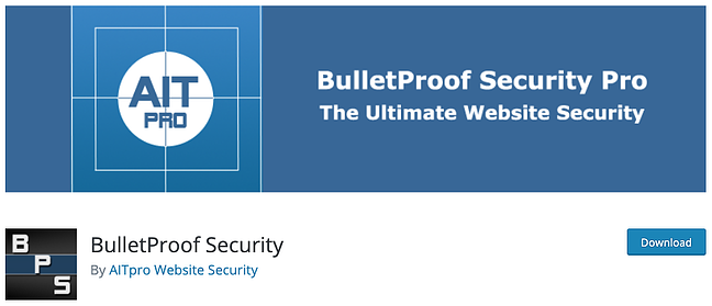 product page for the wordpress security scan plugin bulletproof security