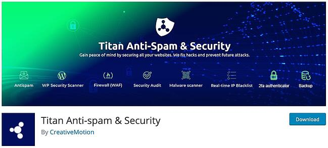 product page for the wordpress security scan plugin titan